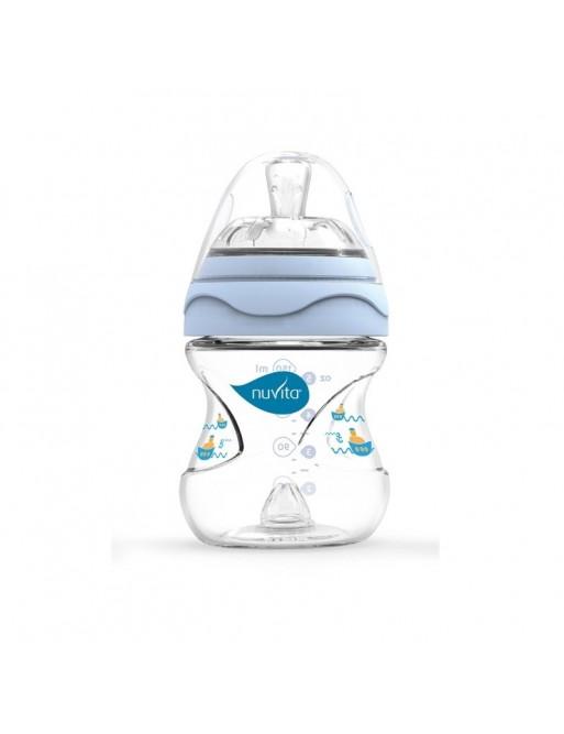 Nuvita Biberon Mimic 150ml Blu