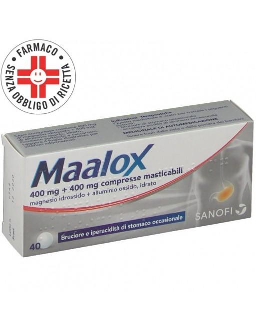 Maalox 400mg+400mg 40 Compresse Masticabili