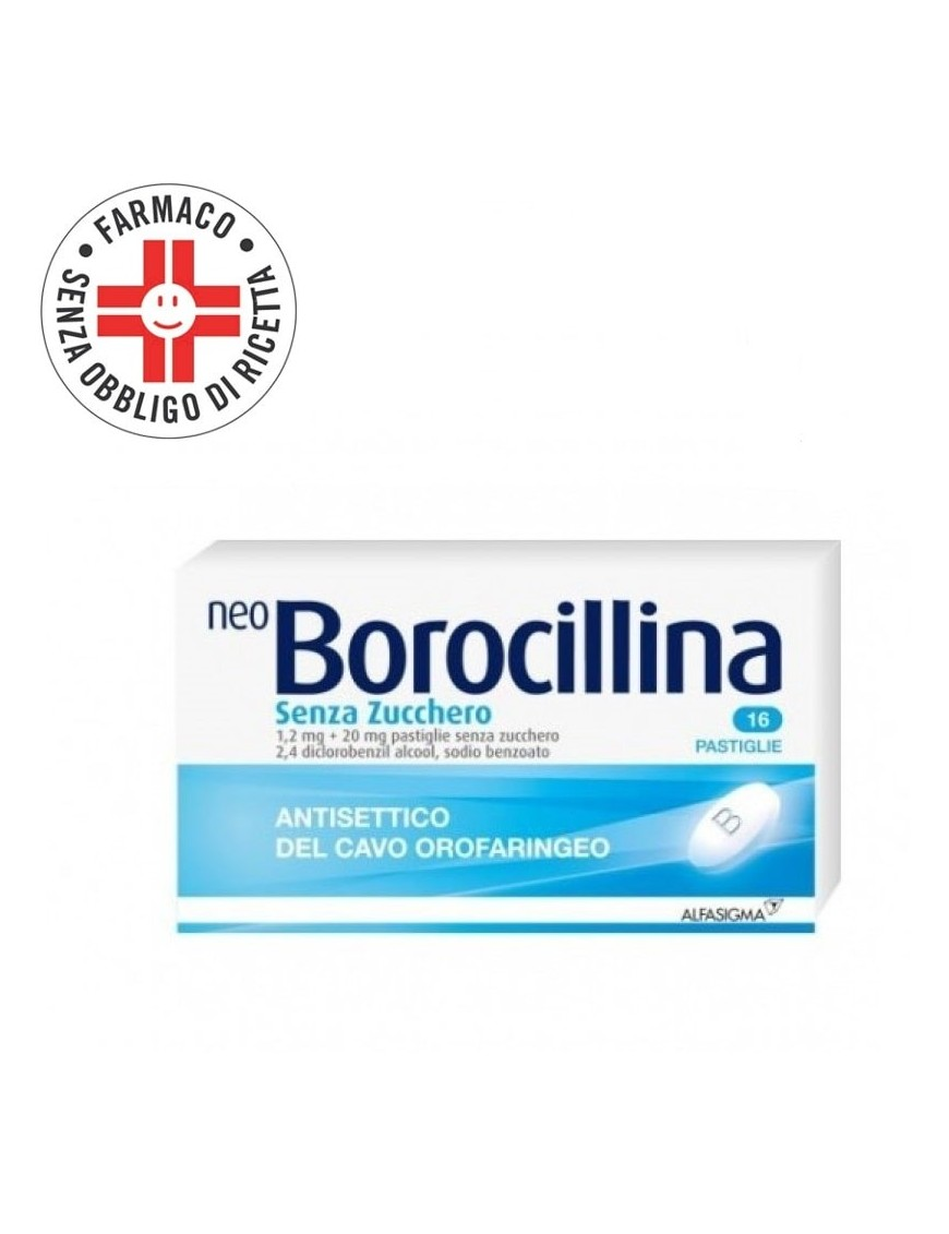 NeoBorocillina Antisettico Orofaringeo 16 Partiglie Senza Zucchero