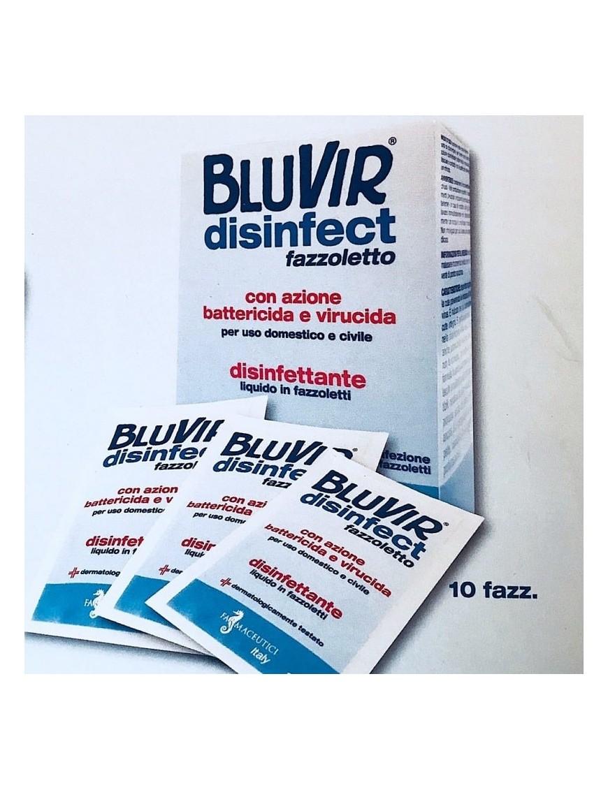 BluVir Disinfect Batteri e Virus 10 Fazzoletti