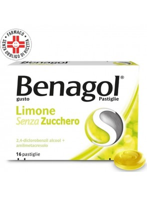 Benagol Limone Senza Zucchero 16 Pastiglie