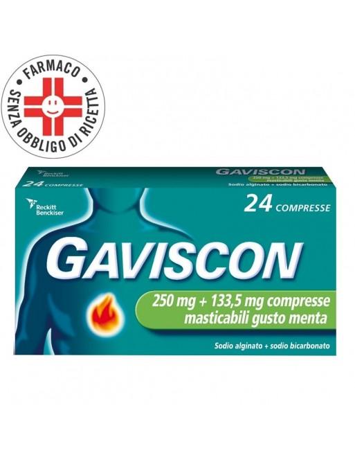 Gaviscon 250+133,5mg 24 Compresse Gusto Menta