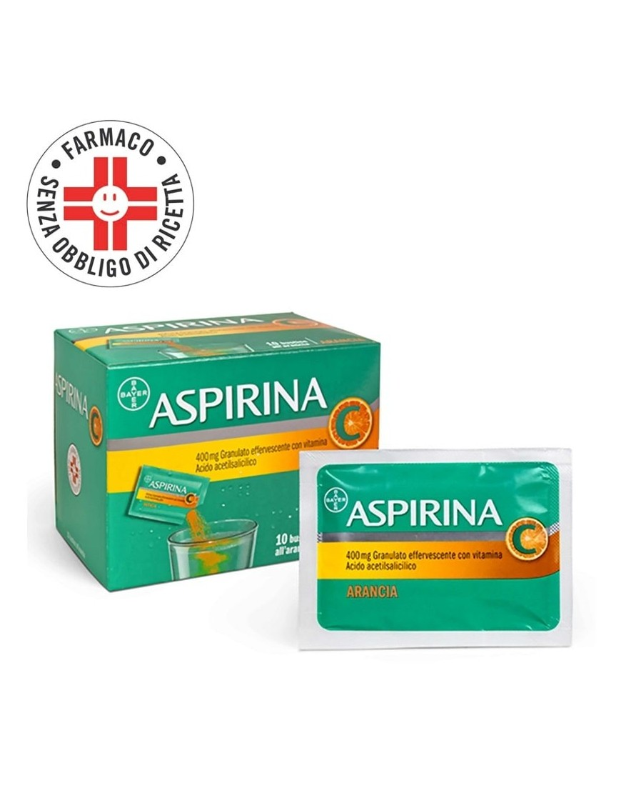 Aspirina Granulato 400mg+200mg 10 Bustine Gusto Arancia
