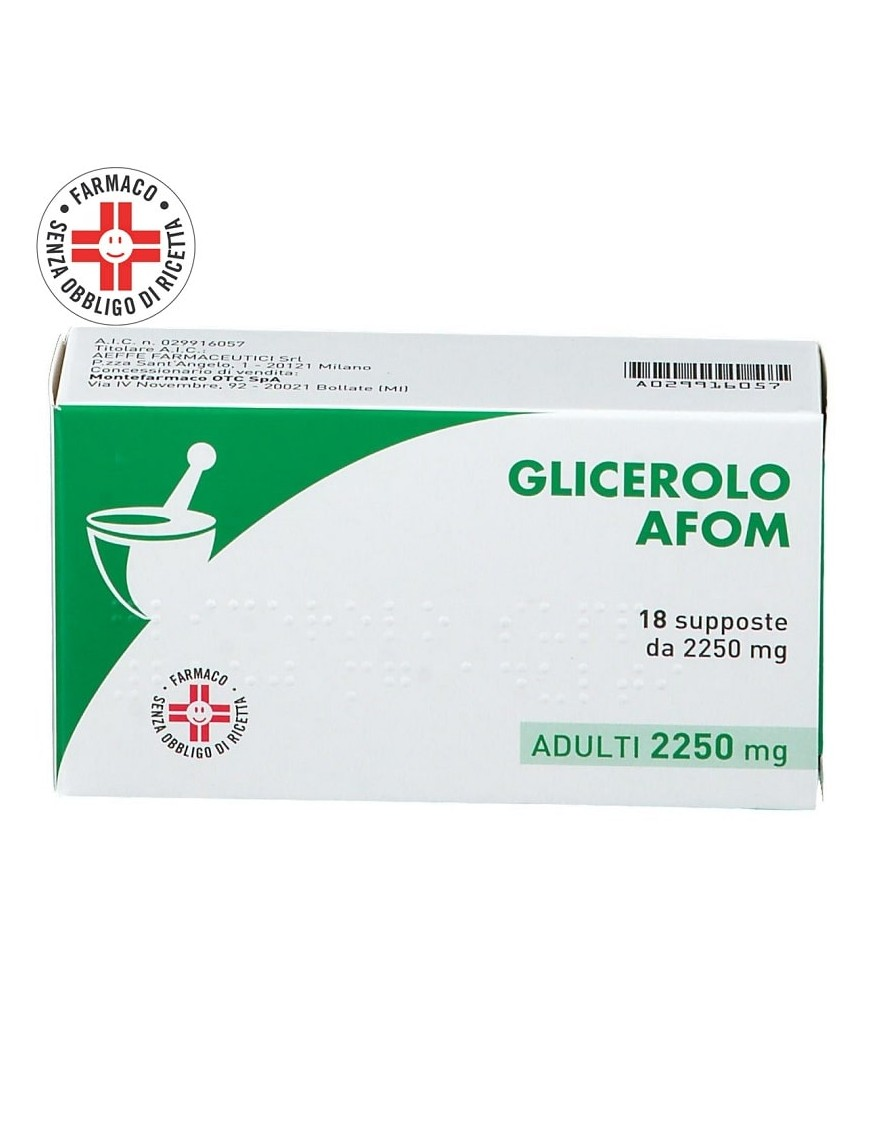 Glicerolo Supposte Adulti 18 Supposte 2250mg