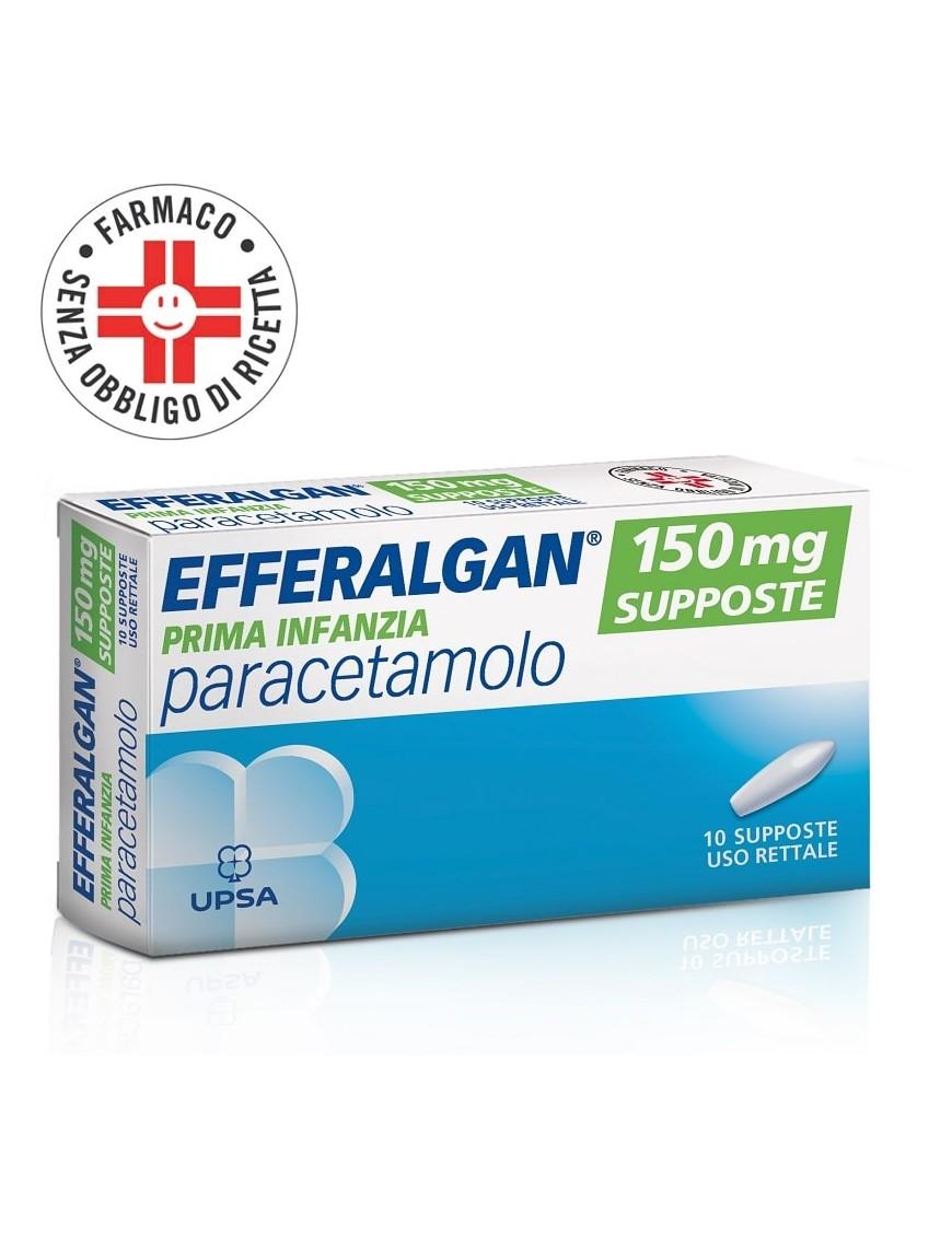 Efferalgan Prima Infanzia 150mg (Paracetamolo) 10 Supposte