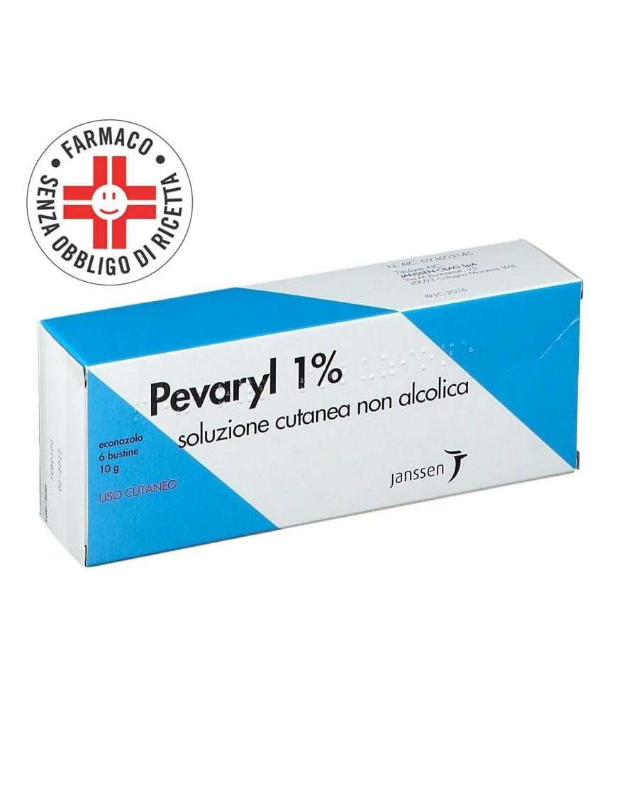 Pevaryl 1% Soluzione Cutanea 6 Bustine 10gr Antimicotico