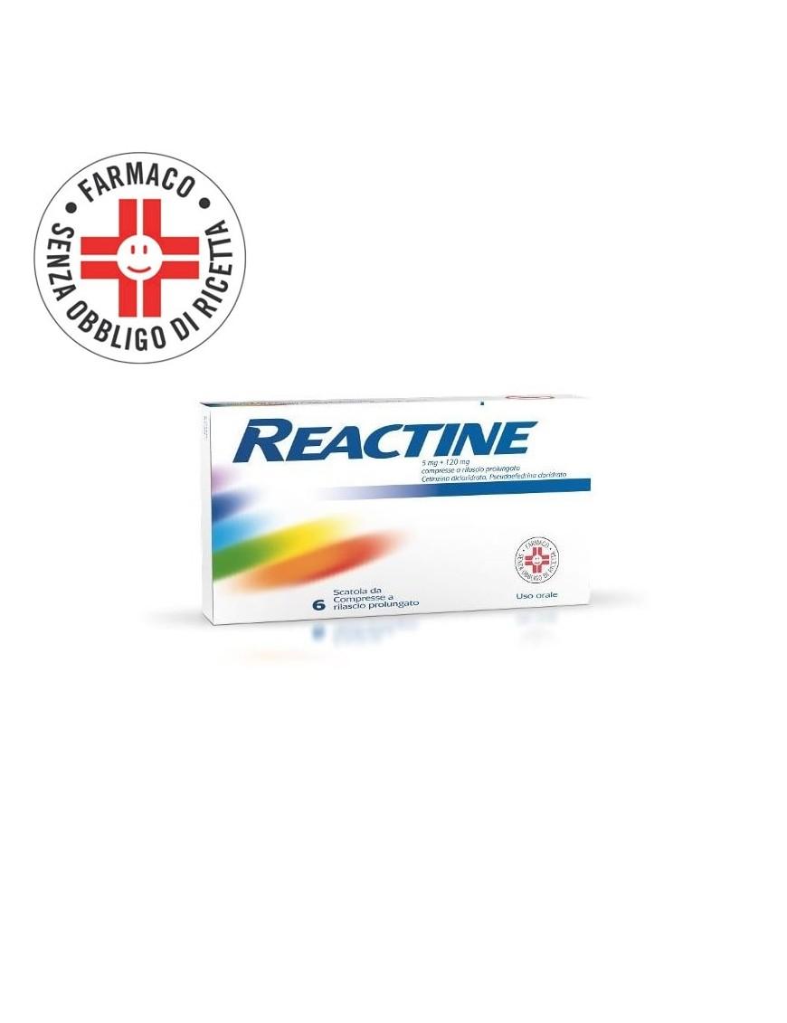 Reactine Antistaminico Decongestinante 5mg+120mg 6 Compresse