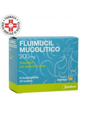 Fluimucil Mucolitico 200mg N-AcetilCisteina 30 Bustine