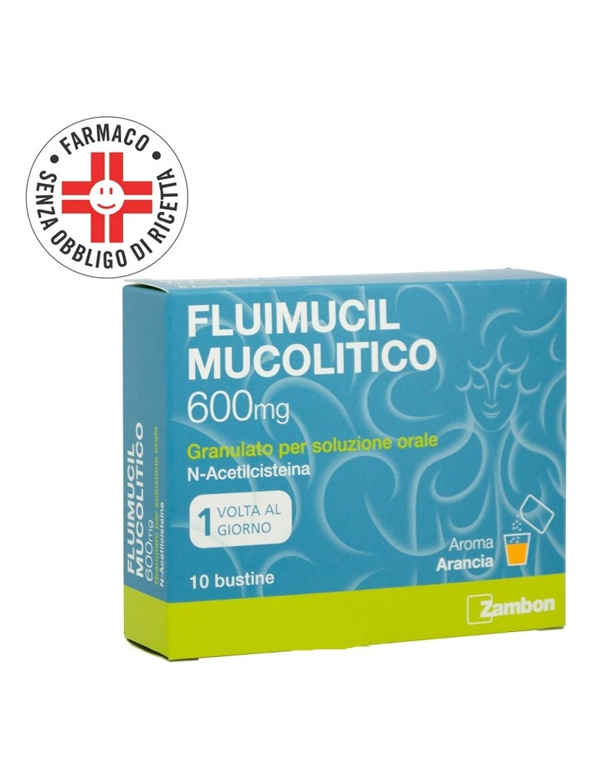 Fluimucil Mucolitico 600mg N-AcetilCisteina 10 Bustine